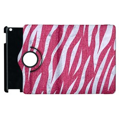 Skin3 White Marble & Pink Denim Apple Ipad 2 Flip 360 Case