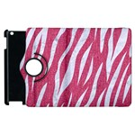 SKIN3 WHITE MARBLE & PINK DENIM Apple iPad 2 Flip 360 Case Front