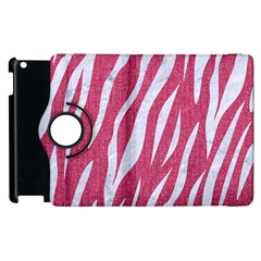 SKIN3 WHITE MARBLE & PINK DENIM Apple iPad 3/4 Flip 360 Case