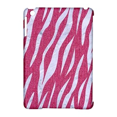 SKIN3 WHITE MARBLE & PINK DENIM Apple iPad Mini Hardshell Case (Compatible with Smart Cover)