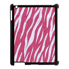 SKIN3 WHITE MARBLE & PINK DENIM Apple iPad 3/4 Case (Black)