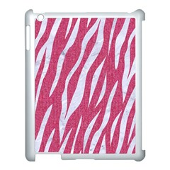 SKIN3 WHITE MARBLE & PINK DENIM Apple iPad 3/4 Case (White)