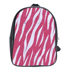 SKIN3 WHITE MARBLE & PINK DENIM School Bag (XL)