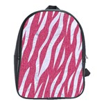 SKIN3 WHITE MARBLE & PINK DENIM School Bag (XL) Front