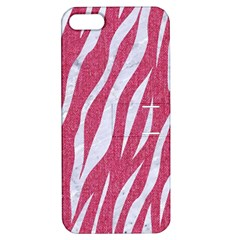 SKIN3 WHITE MARBLE & PINK DENIM Apple iPhone 5 Hardshell Case with Stand