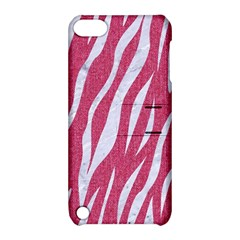 SKIN3 WHITE MARBLE & PINK DENIM Apple iPod Touch 5 Hardshell Case with Stand