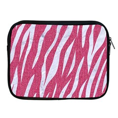 SKIN3 WHITE MARBLE & PINK DENIM Apple iPad 2/3/4 Zipper Cases