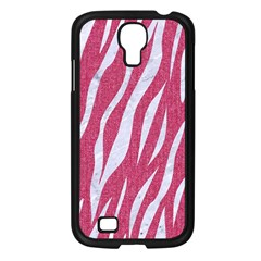 SKIN3 WHITE MARBLE & PINK DENIM Samsung Galaxy S4 I9500/ I9505 Case (Black)