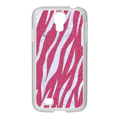 SKIN3 WHITE MARBLE & PINK DENIM Samsung GALAXY S4 I9500/ I9505 Case (White)