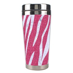 SKIN3 WHITE MARBLE & PINK DENIM Stainless Steel Travel Tumblers