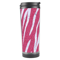 SKIN3 WHITE MARBLE & PINK DENIM Travel Tumbler