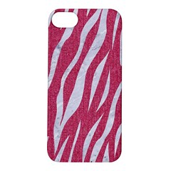 SKIN3 WHITE MARBLE & PINK DENIM Apple iPhone 5S/ SE Hardshell Case