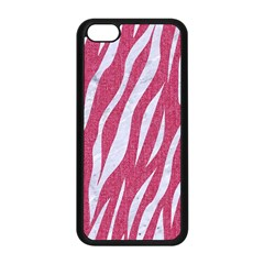 SKIN3 WHITE MARBLE & PINK DENIM Apple iPhone 5C Seamless Case (Black)