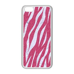 SKIN3 WHITE MARBLE & PINK DENIM Apple iPhone 5C Seamless Case (White)