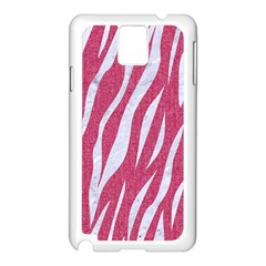 SKIN3 WHITE MARBLE & PINK DENIM Samsung Galaxy Note 3 N9005 Case (White)