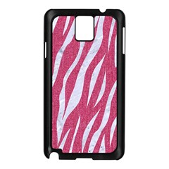 SKIN3 WHITE MARBLE & PINK DENIM Samsung Galaxy Note 3 N9005 Case (Black)