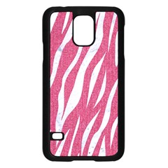 SKIN3 WHITE MARBLE & PINK DENIM Samsung Galaxy S5 Case (Black)