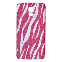 SKIN3 WHITE MARBLE & PINK DENIM Samsung Galaxy S5 Back Case (White)