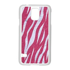 SKIN3 WHITE MARBLE & PINK DENIM Samsung Galaxy S5 Case (White)