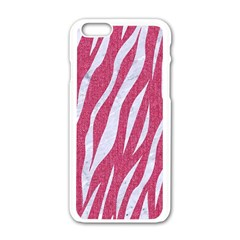 Skin3 White Marble & Pink Denim Apple Iphone 6/6s White Enamel Case by trendistuff