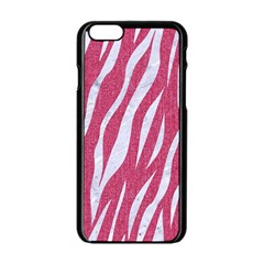 Skin3 White Marble & Pink Denim Apple Iphone 6/6s Black Enamel Case by trendistuff