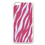 SKIN3 WHITE MARBLE & PINK DENIM Apple iPhone 6 Plus/6S Plus Enamel White Case Front