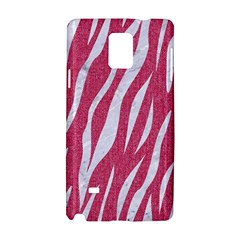 Skin3 White Marble & Pink Denim Samsung Galaxy Note 4 Hardshell Case by trendistuff