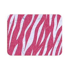 SKIN3 WHITE MARBLE & PINK DENIM Double Sided Flano Blanket (Mini)