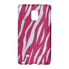 Skin3 White Marble & Pink Denim Galaxy Note Edge by trendistuff