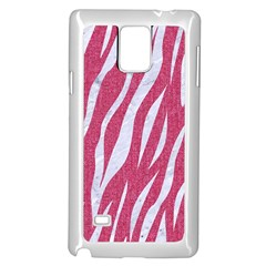 SKIN3 WHITE MARBLE & PINK DENIM Samsung Galaxy Note 4 Case (White)
