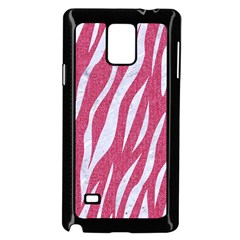 Skin3 White Marble & Pink Denim Samsung Galaxy Note 4 Case (black) by trendistuff