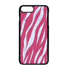 Skin3 White Marble & Pink Denim Apple Iphone 7 Plus Seamless Case (black) by trendistuff