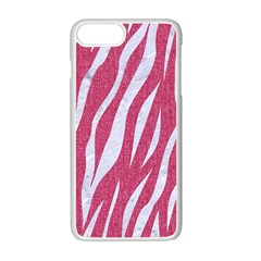 SKIN3 WHITE MARBLE & PINK DENIM Apple iPhone 7 Plus Seamless Case (White)