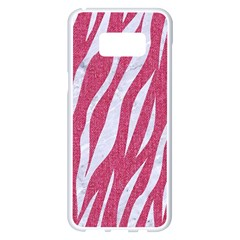 SKIN3 WHITE MARBLE & PINK DENIM Samsung Galaxy S8 Plus White Seamless Case