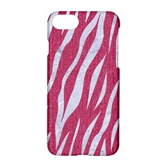 SKIN3 WHITE MARBLE & PINK DENIM Apple iPhone 8 Hardshell Case