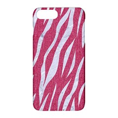 SKIN3 WHITE MARBLE & PINK DENIM Apple iPhone 8 Plus Hardshell Case
