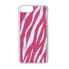SKIN3 WHITE MARBLE & PINK DENIM Apple iPhone 8 Plus Seamless Case (White)