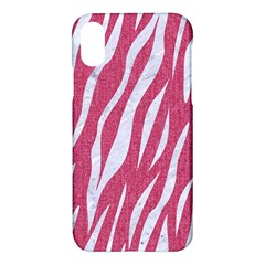 Skin3 White Marble & Pink Denim Apple Iphone X Hardshell Case by trendistuff