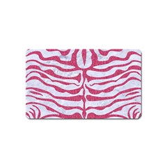 Skin2 White Marble & Pink Denim (r) Magnet (name Card) by trendistuff