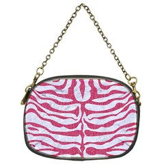 Skin2 White Marble & Pink Denim (r) Chain Purses (one Side)