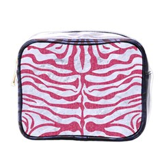 Skin2 White Marble & Pink Denim (r) Mini Toiletries Bags by trendistuff