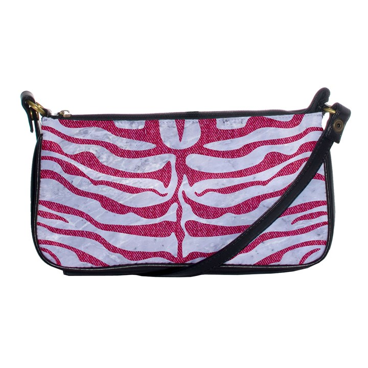 SKIN2 WHITE MARBLE & PINK DENIM (R) Shoulder Clutch Bags