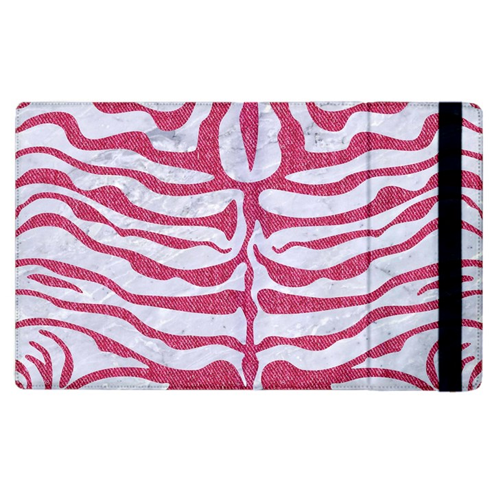 SKIN2 WHITE MARBLE & PINK DENIM (R) Apple iPad 3/4 Flip Case