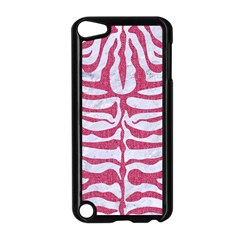 Skin2 White Marble & Pink Denim (r) Apple Ipod Touch 5 Case (black)