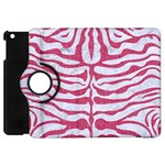 SKIN2 WHITE MARBLE & PINK DENIM (R) Apple iPad Mini Flip 360 Case Front