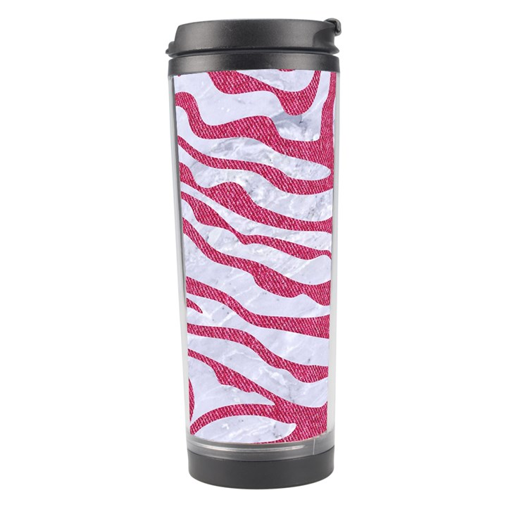 SKIN2 WHITE MARBLE & PINK DENIM (R) Travel Tumbler