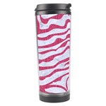 SKIN2 WHITE MARBLE & PINK DENIM (R) Travel Tumbler Right