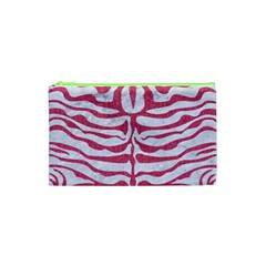 Skin2 White Marble & Pink Denim (r) Cosmetic Bag (xs) by trendistuff