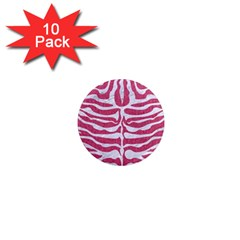 Skin2 White Marble & Pink Denim 1  Mini Magnet (10 Pack)  by trendistuff