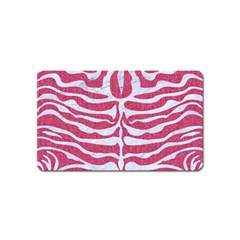 Skin2 White Marble & Pink Denim Magnet (name Card) by trendistuff
